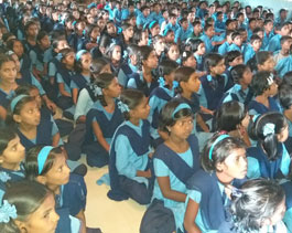 Education session with school children - maval
