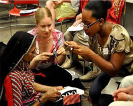 SHG Members demonstrate their handicraft in USA